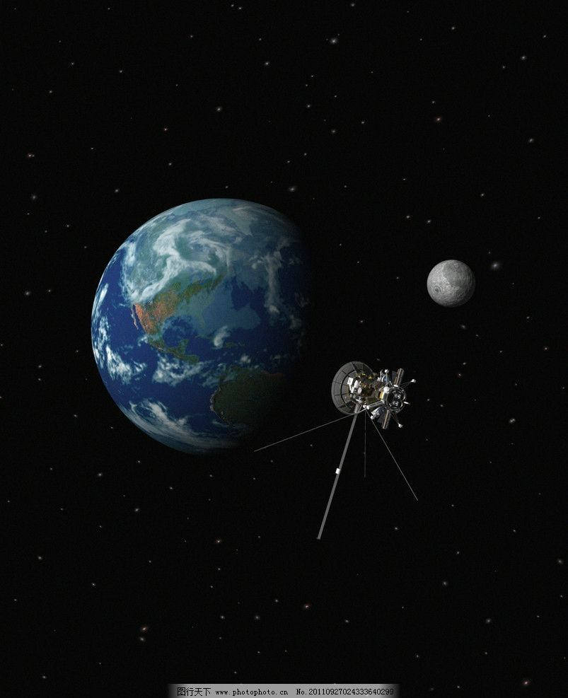 星球与卫星 星球 卫星 地球 天体 太空 科技 其他 自然景观 设计 300