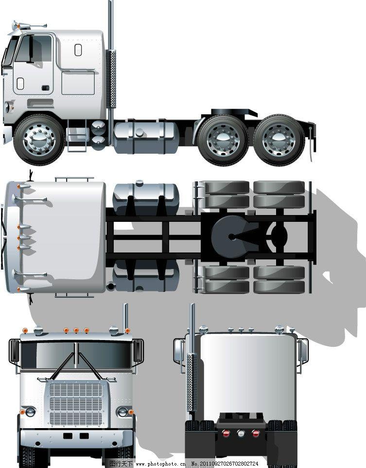 手绘卡车平面图图片