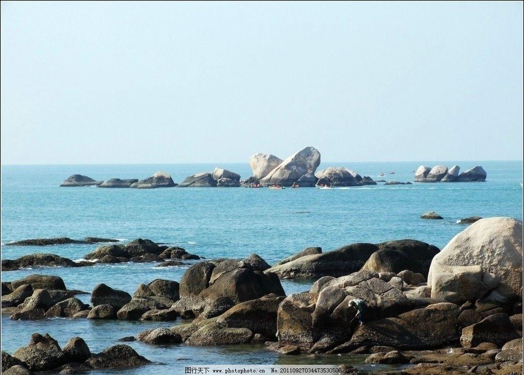 海边 石滩 大海 石头 山水风景