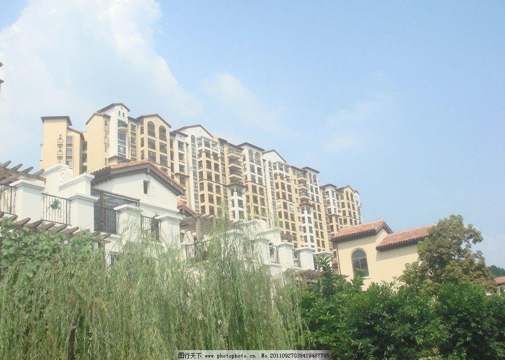 建筑群 园林 建筑 别墅 富力金港城 西班牙建筑风格 建筑摄影 建筑