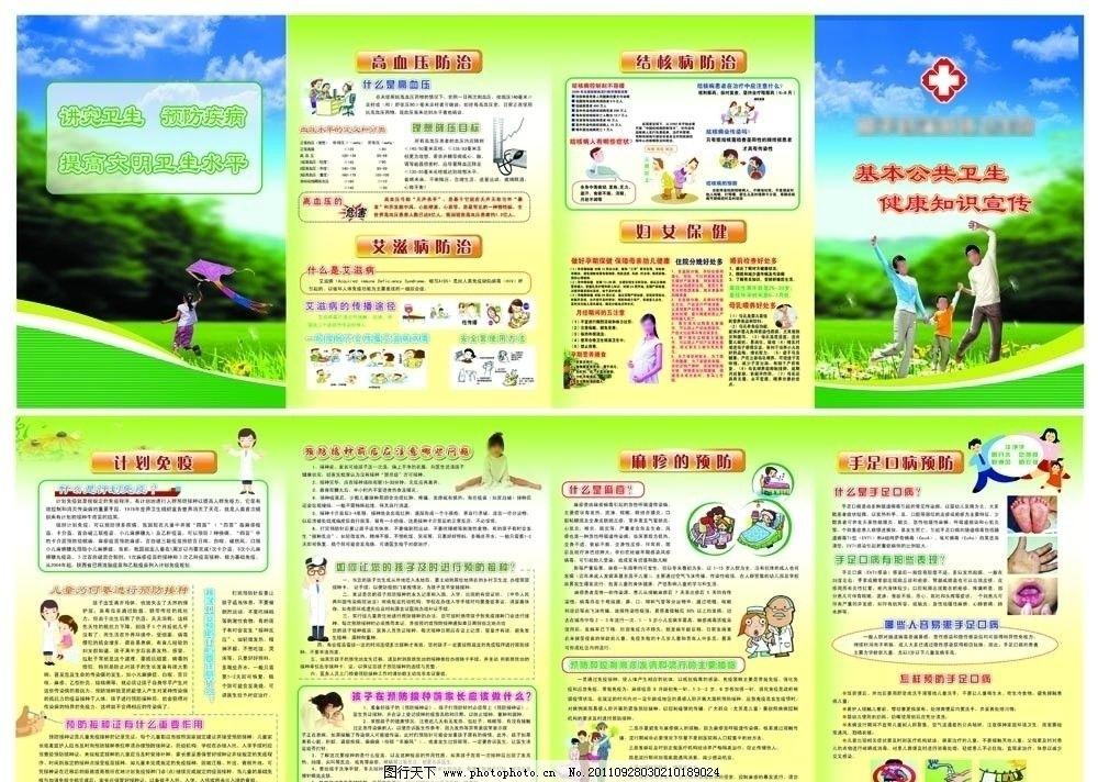 卫生院宣传展板 卫生所 卫生院 宣传材料 dm单 基本公共卫生 健康知识
