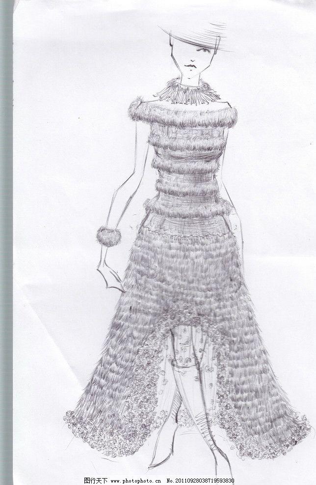 古代女孩衣服简笔画
