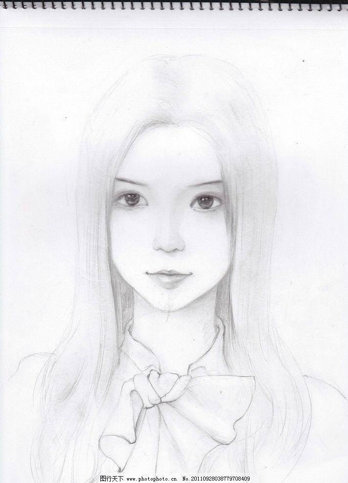 美女 绘画 服装画 卡通画 美女素描 黑白 时装画 手绘人物模特 钢笔画