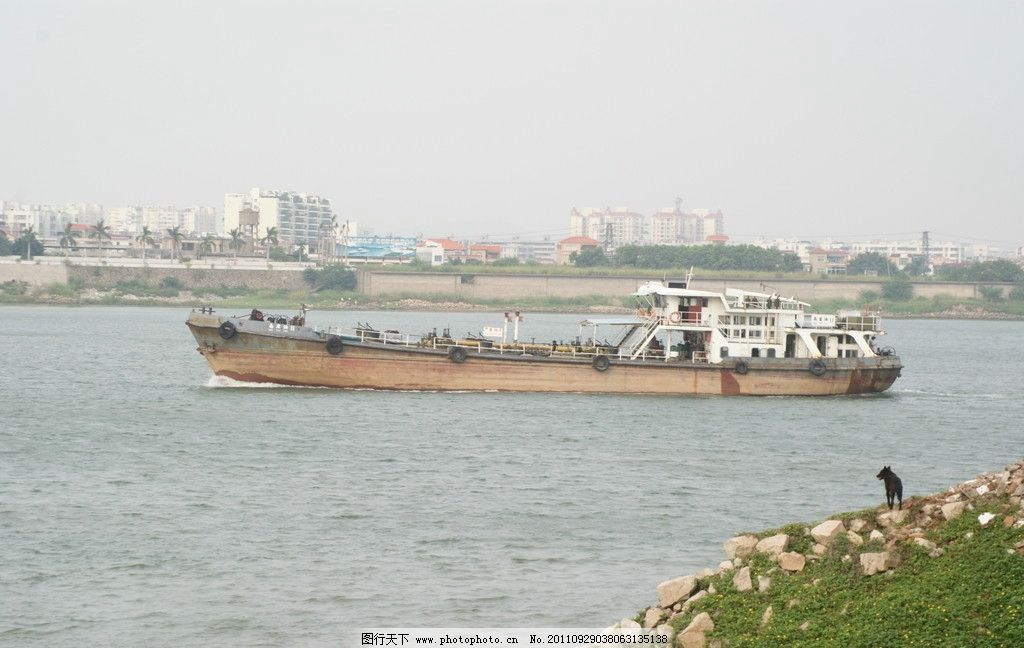 海岛轮船 海岛 轮船 九江船景 远山 货轮 黑狗 载货 江岛景观 交通