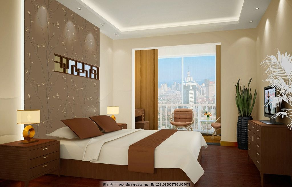 卧室效果图 柜子 床 椅子 室内设计 环境设计 设计 120dpi jpg
